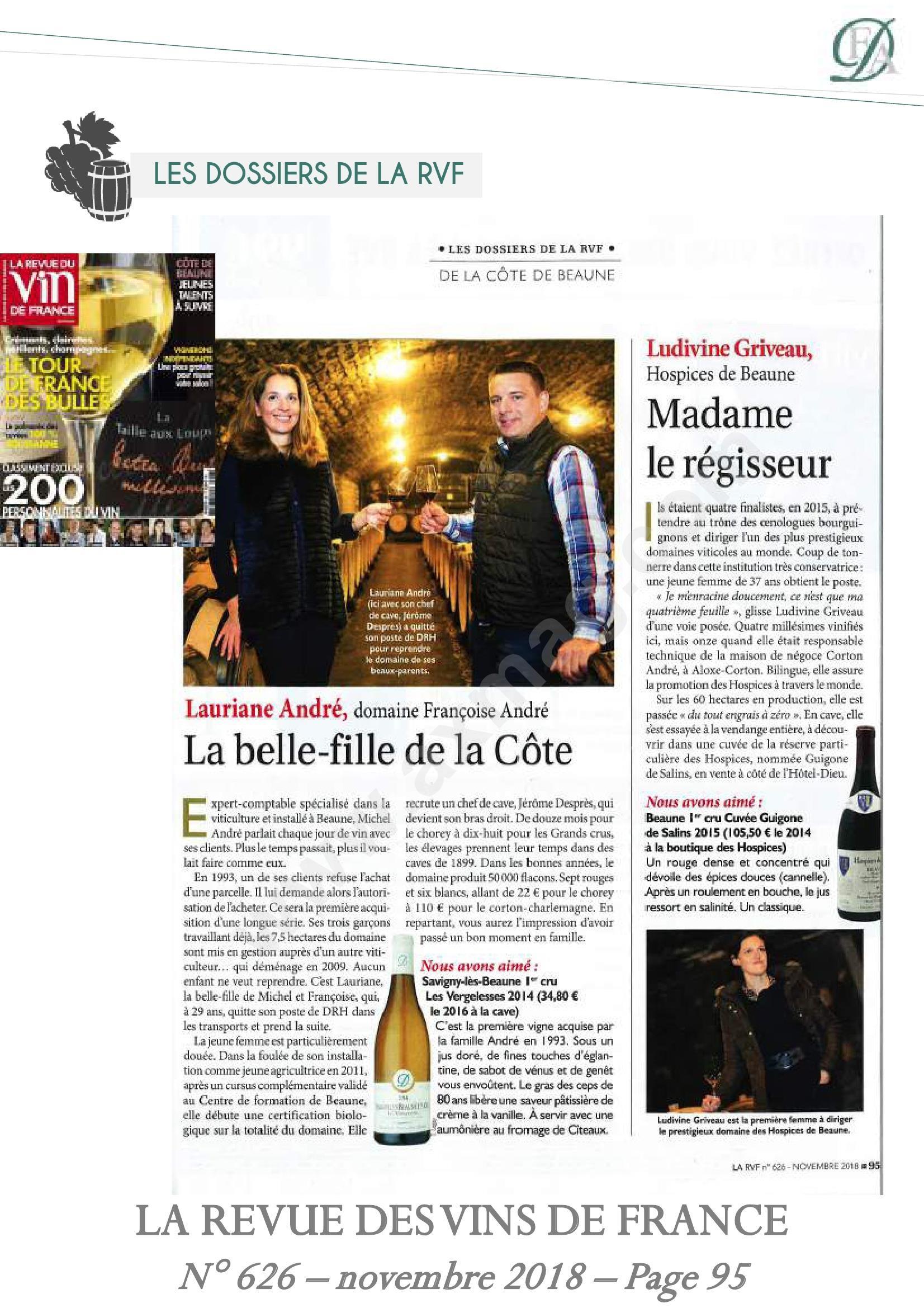 Lauriane André is een van de meest getalenteerde wijnmakers.