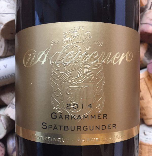 Adeuneuer Spätburgunder Walzporheimer Gärkammer Ahr 2014-0