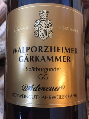 Adeneuer Spätburgunder Walzporheimer Gärkammer GG Ahr 2009-0