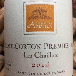 Domaine d'Ardhuy Aloxe Corton 1er Cru Les Chaillots 2014-0