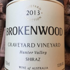 Brokenwood Shiraz Hunter Valley Graveyard Vineyard 2013
