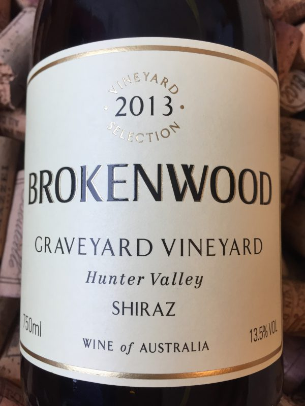 Brokenwood Shiraz Hunter Valley Graveyard Vineyard 2013