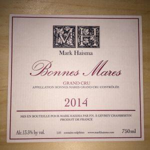 Mark Haisma Bonnes Mares Grand Cru 2014