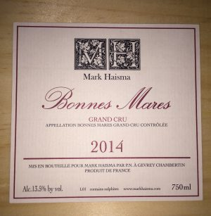 Mark Haisma Bonnes Mares Grand Cru 2014