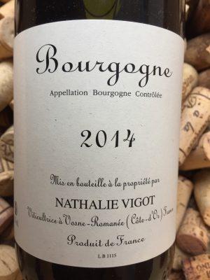 Nathalie Vigot Bourgogne Pinot Noir 2018
