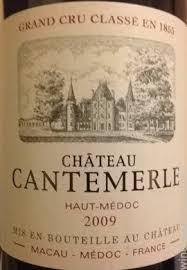 Chateau Cantemerle Haut Medoc 5e Grand Cru Classe 2009