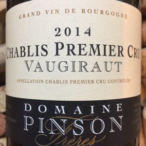 Domaine Pinson Chablis 1er Cru Vaugiraut 2014-0