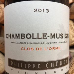 Philippe Cheron Chambolle Musigny Clos de L'Orme 2013