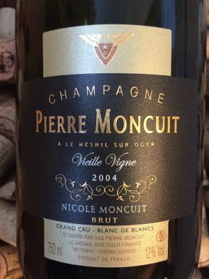 Pierre Moncuit Champagne Cuvee Nicole Vieilles Vignes Blanc des Blancs Grand Cru