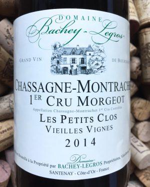 Bachey-Legros Chassagne Montrachet 1e Cru Morgeot 2014