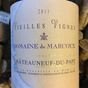 Domaine de Marcoux Chateauneuf du Pape Vieilles Vignes 2011
