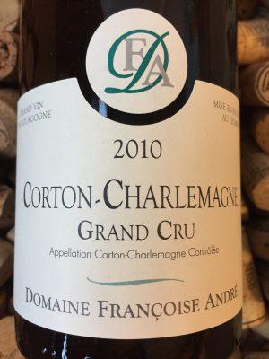 Francoise Andre Corton Charlemagne Grand Cru 2010
