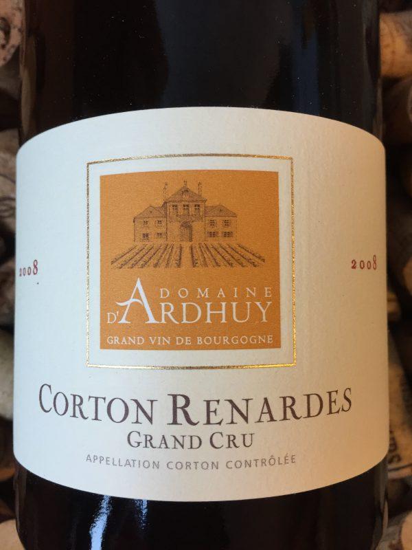 Domaine d'Ardhuy Corton Renardes Grand Cru 2008