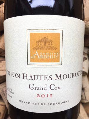 Domaine d'Ardhuy Hautes Mourottes Grand Cru 2013