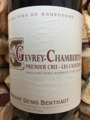 Domaine Berthaut-Gerbet Gevrey Chambertin Premier Cru Cazetiers 2019
