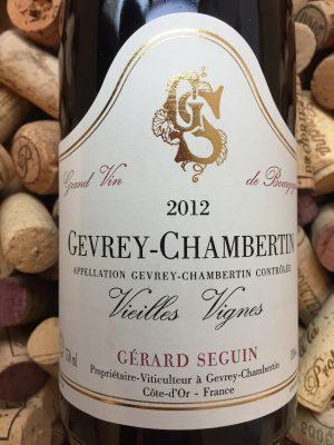 Gerard Seguin Gevrey Chambertin Vieilles Vignes 2012