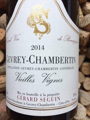 Gerard Seguin Gevrey Chambertin Vieilles Vignes 2014