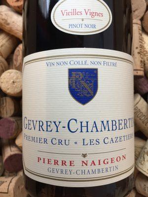 Pierre Naigeon Gevrey Chambertin Premier Cru Les Cazetiers 2009