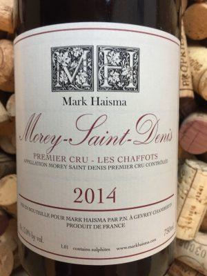 Mark Haisma Morey Saint Denis Premier Cru Les Chaffots 2014