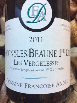 Francoise Andre 1er Cru Vergelesses Savigny les Beaune 2011