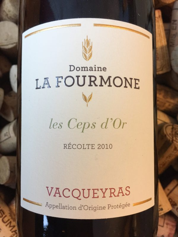 Domaine La Fourmone Vacqueyras Cepes d'Or 2010