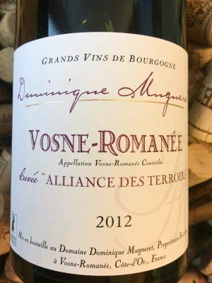 Dominique Mugneret Vosne Romanee Alliance des Terroirs 2012