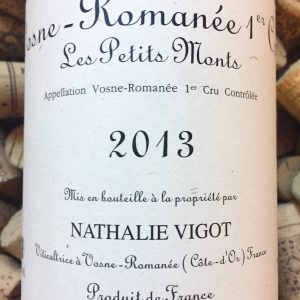 Nathalie Vigot Vosne Romanee 1er Cru Les Petits Monts 2013