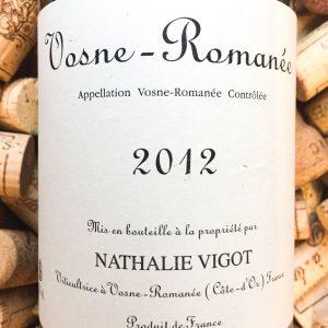 Nathalie Vigot Vosne Romanee 2012