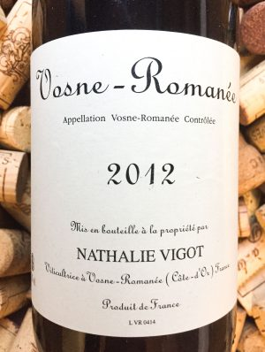 Nathalie Vigot Vosne Romanee 2018