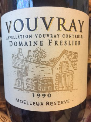 Domaine Freslier Vouvray Moulleux Reserve 1990