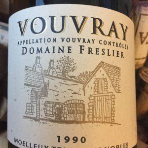 Domaine Freslier Vouvray Tri Grains Nobles 1990