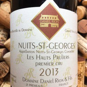 Daniel Rion Nuits Saint Georges 1er Cru Hauts Pruliers 2013