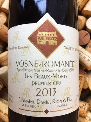 Daniel Rion Vosne Romanee 1er Cru Les Beaux Monts 2013
