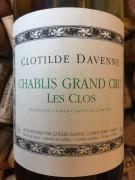 Clotilde Davenne Chablis Grand Cru Les Clos 2014