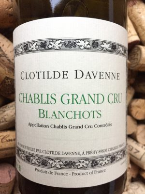 Clotilde Davenne Chablis Grand Cru Blanchot 2014