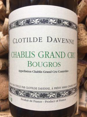 Clotilde Davenne Chablis Grand Cru Bougros 2014
