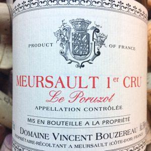 Vincent Bouzereau Meursault 1e Cru Poruzots 2014
