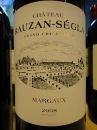 Chateau Rauzan Segla Margaux 2e Grand Cru Classe 2008