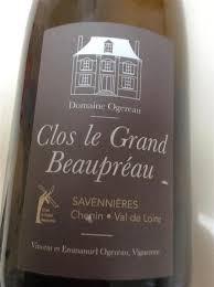 Domaine Ogereau Savennieres Clos le Grand Beaupreau 2014