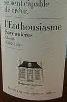Domaine Ogereau Savennieres L'Enthousiasme 2014