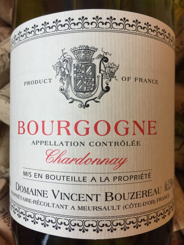 Vincent Bouzereau Bourgogne Blanc 2014