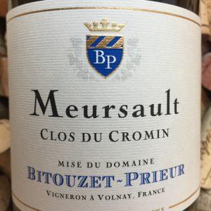 Bitouzet Prieur Meursault Clos de Cromin 201