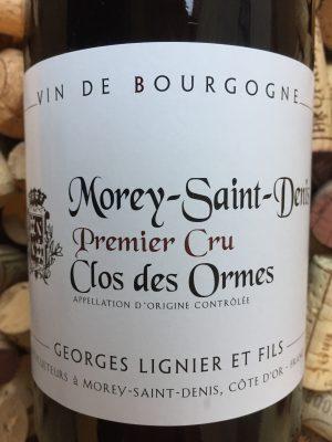 Georges Lignier Morey Saint Denis Premier Cru Clos des Ormes 2018