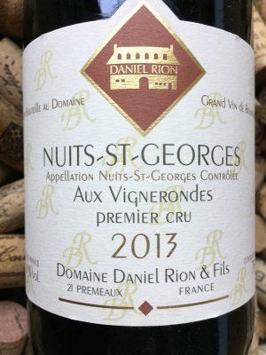 Daniel Rion Nuits Saint Georges 1er Cru Vignes Rondes 2013