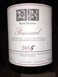 Mark Haisma Pommard Premier Crus Clos les Arvelets 2015