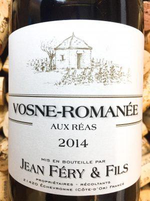 Jean Fery Vosne Romanee Aux Reas 2014