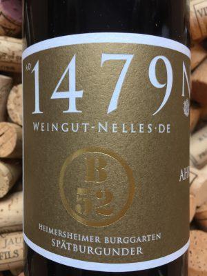 Nelles Spatburgunder GG Heimersheimer Burggarten B52 Ahr 2016