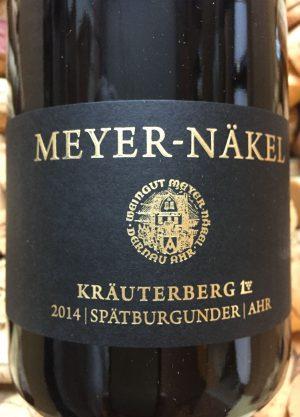 Meyer Näkel KrMeyer Näkel Kräuterberg GG Spätburgunder Ahr 2017äuterberg GG Spätburgunder Ahr 2014
