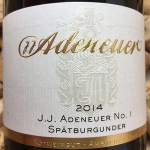Adeneuer Nr 1 Spätburgunder Ahr 2014