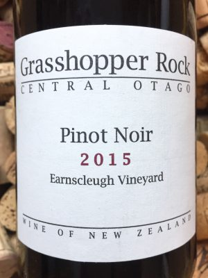 Grasshopper Rock Earnscleugh vineyard Central Otago 2015